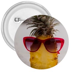 Pineapple With Sunglasses 3  Buttons