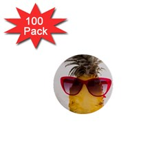 Pineapple With Sunglasses 1  Mini Buttons (100 pack)