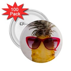 Pineapple With Sunglasses 2.25  Buttons (100 pack)