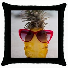 Pineapple With Sunglasses Throw Pillow Case (Black)