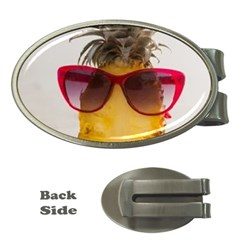 Pineapple With Sunglasses Money Clips (Oval)