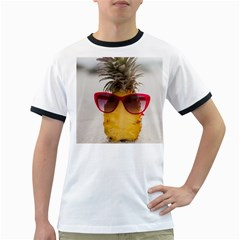 Pineapple With Sunglasses Ringer T-Shirts