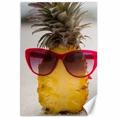 Pineapple With Sunglasses Canvas 24  X 36