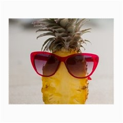 Pineapple With Sunglasses Small Glasses Cloth (2-Side)