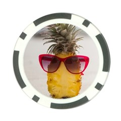 Pineapple With Sunglasses Poker Chip Card Guard