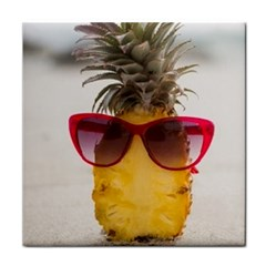 Pineapple With Sunglasses Face Towel