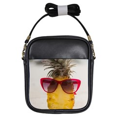Pineapple With Sunglasses Girls Sling Bags
