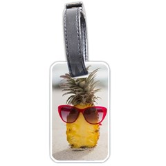 Pineapple With Sunglasses Luggage Tags (One Side)