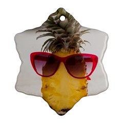 Pineapple With Sunglasses Ornament (Snowflake)