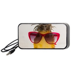 Pineapple With Sunglasses Portable Speaker (Black)