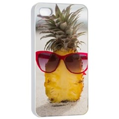 Pineapple With Sunglasses Apple iPhone 4/4s Seamless Case (White)