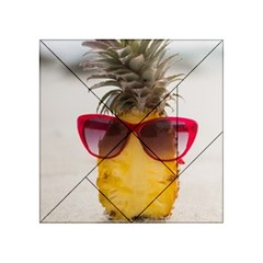 Pineapple With Sunglasses Acrylic Tangram Puzzle (4  x 4 )
