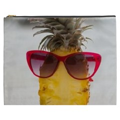 Pineapple With Sunglasses Cosmetic Bag (XXXL)
