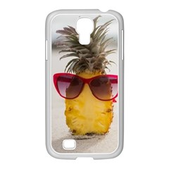 Pineapple With Sunglasses Samsung GALAXY S4 I9500/ I9505 Case (White)