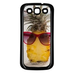 Pineapple With Sunglasses Samsung Galaxy S3 Back Case (Black)