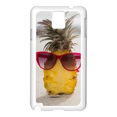 Pineapple With Sunglasses Samsung Galaxy Note 3 N9005 Case (White)