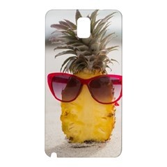 Pineapple With Sunglasses Samsung Galaxy Note 3 N9005 Hardshell Back Case