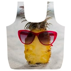 Pineapple With Sunglasses Full Print Recycle Bags (L)