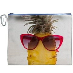 Pineapple With Sunglasses Canvas Cosmetic Bag (XXXL)