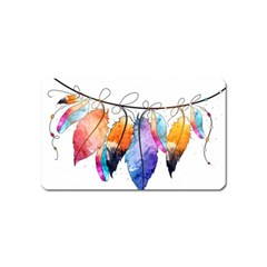 Watercolor Feathers Magnet (Name Card)