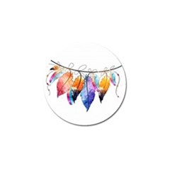Watercolor Feathers Golf Ball Marker (4 pack)