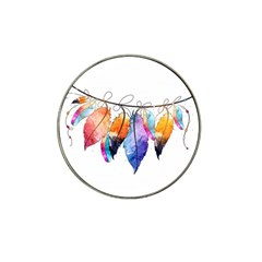 Watercolor Feathers Hat Clip Ball Marker (4 pack)