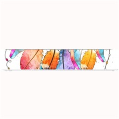Watercolor Feathers Small Bar Mats