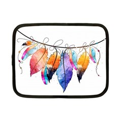 Watercolor Feathers Netbook Case (Small)
