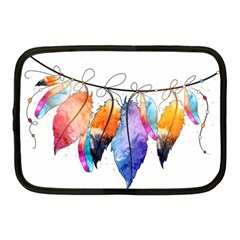 Watercolor Feathers Netbook Case (Medium)