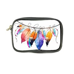 Watercolor Feathers Coin Purse