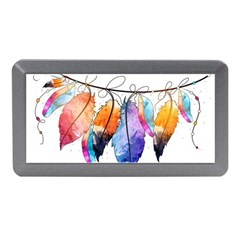 Watercolor Feathers Memory Card Reader (Mini)