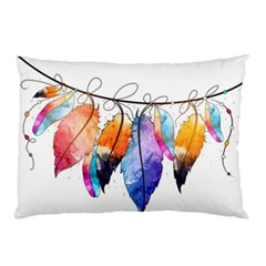 Watercolor Feathers Pillow Case (Two Sides)