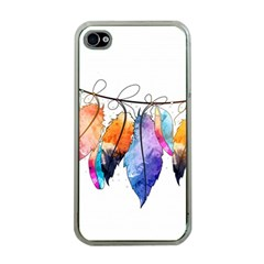 Watercolor Feathers Apple iPhone 4 Case (Clear)