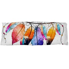 Watercolor Feathers Body Pillow Case Dakimakura (Two Sides)