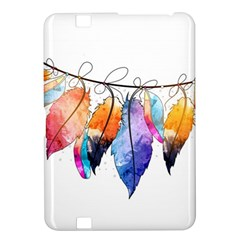 Watercolor Feathers Kindle Fire HD 8.9