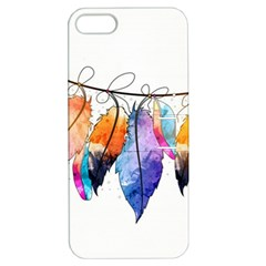 Watercolor Feathers Apple iPhone 5 Hardshell Case with Stand
