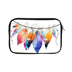 Watercolor Feathers Apple iPad Mini Zipper Cases