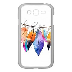 Watercolor Feathers Samsung Galaxy Grand DUOS I9082 Case (White)