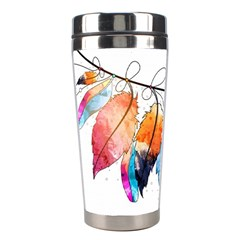Watercolor Feathers Stainless Steel Travel Tumblers