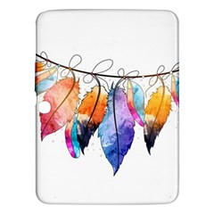 Watercolor Feathers Samsung Galaxy Tab 3 (10.1 ) P5200 Hardshell Case