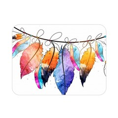 Watercolor Feathers Double Sided Flano Blanket (Mini)