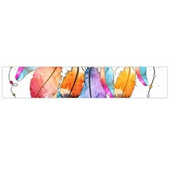 Watercolor Feathers Flano Scarf (Large)