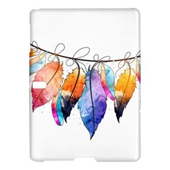 Watercolor Feathers Samsung Galaxy Tab S (10.5 ) Hardshell Case