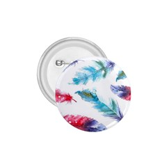 Watercolor Feather Background 1.75  Buttons