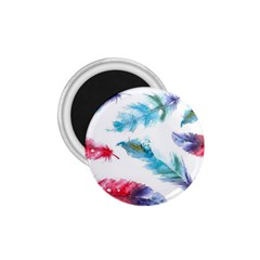 Watercolor Feather Background 1.75  Magnets