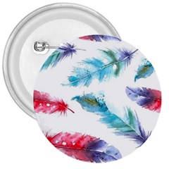 Watercolor Feather Background 3  Buttons