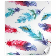 Watercolor Feather Background Canvas 20  x 24