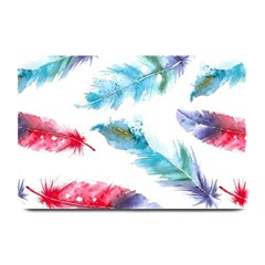 Watercolor Feather Background Plate Mats