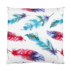Watercolor Feather Background Standard Cushion Case (Two Sides)