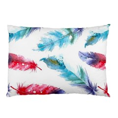 Watercolor Feather Background Pillow Case